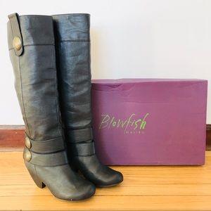 Blowfish Buttercalf Wisker boot in black 3in heel